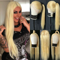 100% Real Remy Indian Human Hair Lace Front Wig Full Lace Wigs 360 Wigs Blonde P