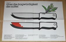 EAST GERMAN ART POSTER FROM 1987 - A FUTURE WITHOUT WARS