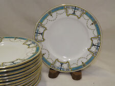 Minton 12 Bread Butter Plates K103 Turquoise Band Urns Ribbon & Swags