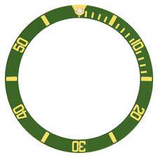 NEW BEZEL INSERT FOR 40MM INVICTA 8926OB 8928 9937 PRO DIVER GREEN GOLD FONT