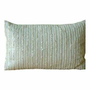 Ivory Lined Mother Of Pearls 20x36 inch Silk King Pillow Sham - Pearl Harbour