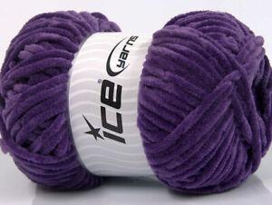 Ice Yarn Sale Plain Purple 2 Skeins 50g 540m 68269