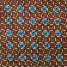 Red Blue Gold Paisley Foulard Silk HARRODS Ascot Cravat ENGLAND