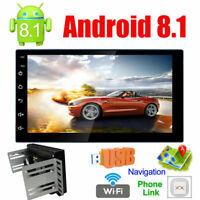 "Android 8.1 GPS Navigation 7"" Car Stereo NO DVD Player Radio USB InDash 2DIN"