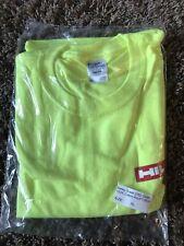 NEW Mens Hilti XL Tool Safety Yellow HiVis Tshirt Construction