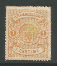 LUXEMBOURG. 1867. 1c Orange, Rouletted in Colour. SG: 21. Fresh Mint Hinged