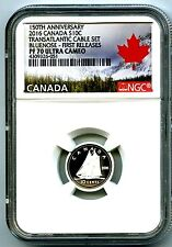 2016 CANADA SILVER PROOF 10 CENT NGC PF70 UCAM .9999 FINE FIRST RELEASES DIME