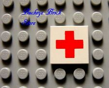 LEGO TILE 2x2 with RED CROSS Pattern 6629 6688 6380 1356