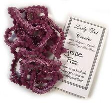 Lady Dot Creates Hand-Dyed Mini Pom Pom Trim Grape Fizz Purple 2 Yards