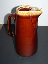 Tall Slender Hull Pottery Brown Drip Water Pitcher or Coffee Pot - No Lid