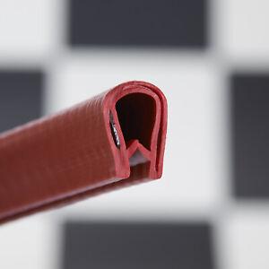 Rubber RED Edge Trim Seal- Car Van Interior Exterior Edge Trim