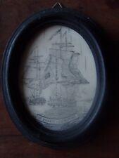 WAR OF 1812 BOSTON HARBOUR BATTLE ANTIQUE EX VOTO