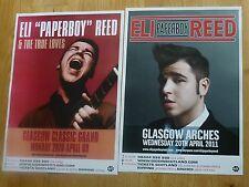 Eli Paperboy Reed - Scottish tour Glasgow concert gig posters x 2