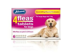 Johnson's 4Fleas Tablets For Large Dogs Over 11kg 6 Treatment Pack Free Delivery