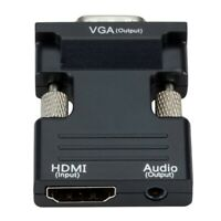 MI Female to VGA Female Converter with Audio Adapter, Supports 1080P SignalU9B8
