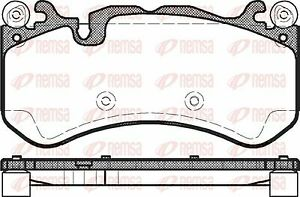 Remsa 1300.00 Brake Pad Set Mercedes Benz C63 AMG 2008