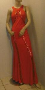 rotes Abendkleid / Ballkleid mit Pailetten Gr. S/M  von Fuchs ungetragen # 26