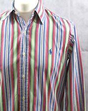 "Ralph Lauren custom fit multi coloured men's stripes cotton shirt 15"" medium"