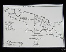 Glass Magic Lantern Slide A MAP OF PAPUA NEW GUINEA C1910
