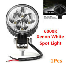 1x 12W Round Waterproof Auto Car Off-Road LED Work Light Spot Fog DRL Lamp 6000K