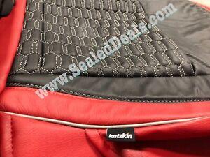 2018->2021 Jeep Wrangler JL Sport Sahara Custom Leather Seat Covers w Hex Stitch