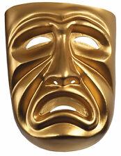 Tragedy Ancient Greek Theatre Costume Gold PVC Men Mask