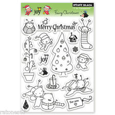 New Penny Black FAIRY CHRISTMAS Clear Stamp Critters Holiday Winter Tree Merry