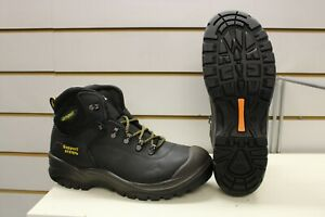 Grisport Contractor Black Leather Steel Toe Cap Safety Boots UK 9 EU 43 S3