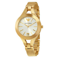 Emporio Armani  AR7399 White/Gold Stainless Steel Analog Quartz Women's Watch