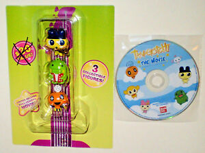Tamagotchi Charms 3 Collectible 1-1/2in. Figures with 90 Minute DVD Movie 2009