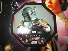 STAR WARS LECLERC CARTE JETON BOBBA FETT 09/54 COSMIC SHELLS FRENCH EXCLUSIVE