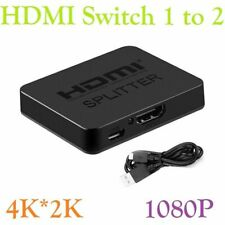 HDMI to Dual Twin HDMI 1 to 2 Way Splitter Adapter Cable Signal Amplifier 4K*2K