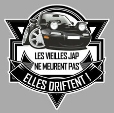 MAZDA MIATA MX5 DRIFT JAPAN JDM HUMOUR 12cm AUTOCOLLANT STICKER AUTO VA110