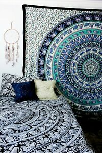 Indian Twin Wall Hanging Cotton Mandala Bedspread Ethnic Tapestry Bedsheet Decor