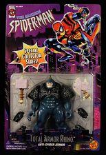 "1996 TOY BIZ MARVEL ""THE AMAZING SPIDER-MAN"" TOTAL ARMOR RHINO 5"" FIGURE MOC"