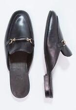 Billi Bi Pantolette schwarz Leder Slipper Loafer  Mules Flats Gr. 40