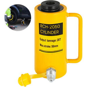 "Hydraulic Cylinder Jack 20 tons 2"" st Single acting Hollow Ram 10000PSI YG-2050K"