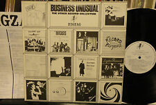 BUSINESS UNUSUAL Zig Zag UK Subs Sex Pistols Outcasts 1978 Cherry Red UK  POSTER