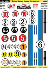 MG6400-2 - 1/24 High Def UltraCal Decals Racing Number Roundel Decals Style2
