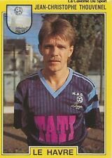 N°051 THOUVENEL LE HAVRE HAC VIGNETTE PANINI FOOTBALL 92 STICKER 1992