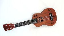 New Alulu laminated mahogany tenor ukulele, laser foot ball pattern