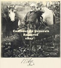 Robert E Lee, with his horse Traveller, signed