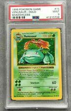 Venusaur Shadowless Base Set PSA 9 Mint - Pokemon tcg card 15/102