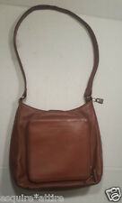 "FOSSIL Genuine Leather Brown Women Shoulder Bag (11x9x3 with 15"" shoulder drop)"