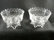 Pair of Eapg, Batesville, applied band, Glass candle holders 1887