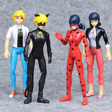 Lot Of 4 Miraculous Ladybug 5.5inch Action Figures Adrien With Light Toys Gift