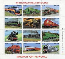 Sierra Leone 1995 MNH Railways of World 12v MS II Trains Locomotives Züge Trenes