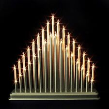 Modern 33 Light Candle Bridge Arch Christmas Xmas Window Table Decoration Silver