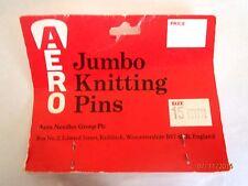 ~BN IN PACKET AERO VINTAGE JUMBO CHUNKY KNITTING NEEDLES - 15mm~