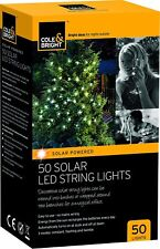 Cole & Bright 50 Solar LED String Lights Brand New